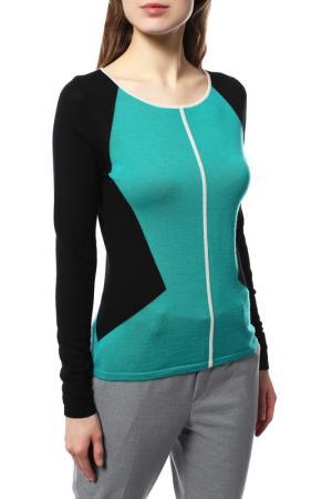 Пуловер LAUREL. Цвет: зеленый