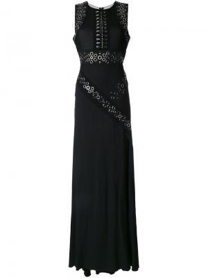 Вечернее платье с люверсами Antonio Berardi. Цвет: чёрный