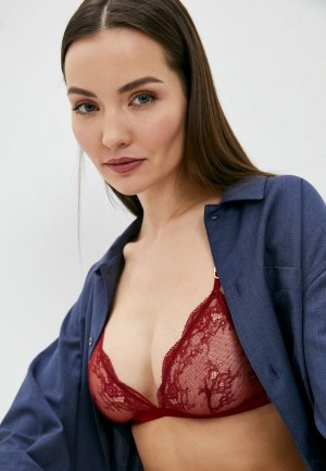 Бюстгальтер Stella McCartney Underwear. Цвет: бордовый