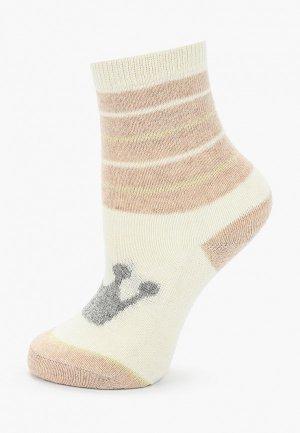 Носки Sela. Цвет: бежевый