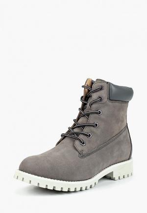 Ботинки Evita. Цвет: серый