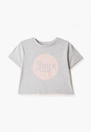 Футболка Juicy Couture. Цвет: серый