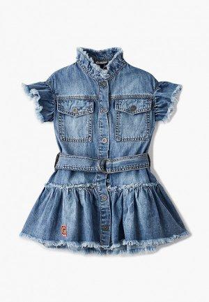 Платье джинсовое Gulliver. Цвет: синий