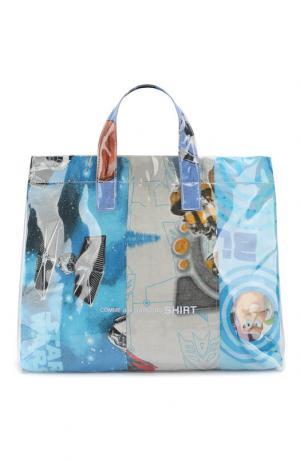 Текстильная сумка-шоппер Comme des Garcons. Цвет: разноцветный