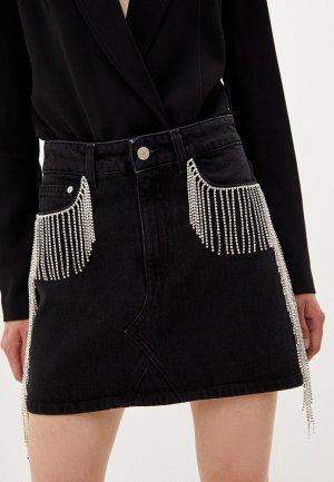 Юбка джинсовая Chiara Ferragni Collection. Цвет: черный