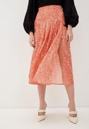 Юбка Glamorous. Цвет: коралловый