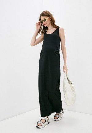 Пальто и платье Mamalicious. Цвет: черный