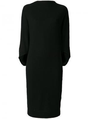 Платье с вырезом-лодочкой драпировками Chalayan. Цвет: чёрный