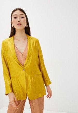 Пиджак Forte. Цвет: желтый