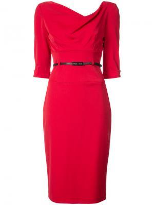 Платье Jackie O Black Halo. Цвет: красный
