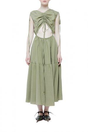 Платье Cyrille Gassiline. Цвет: оливковый