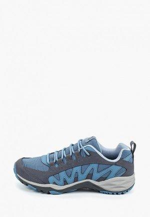 Ботинки трекинговые Merrell. Цвет: голубой