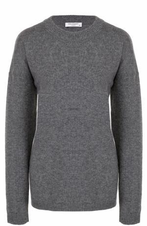 Кашемировый пуловер с круглым вырезом Equipment. Цвет: серый