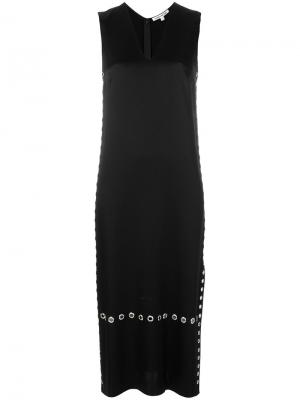 Длинное платье с люверсами Elizabeth And James. Цвет: чёрный