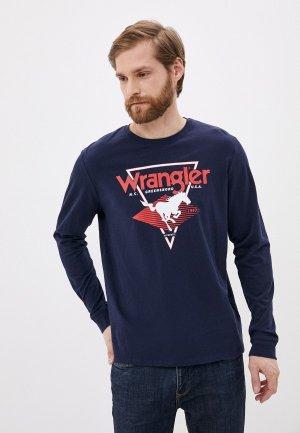 Лонгслив Wrangler. Цвет: синий