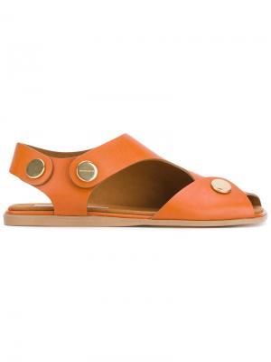 Сандалии с открытым носком Stella McCartney. Цвет: жёлтый и оранжевый