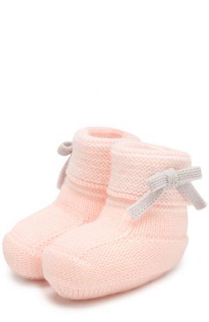 Шерстяные пинетки Baby T. Цвет: розовый