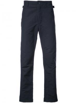 Брюки стандартного кроя Engineered Garments. Цвет: синий