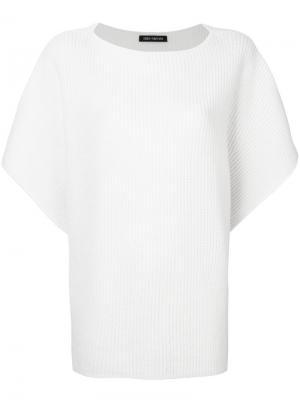 Wide sleeved ribbed top Iris Von Arnim. Цвет: белый