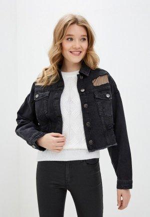 Куртка джинсовая Dali. Цвет: черный