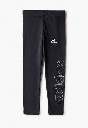 Леггинсы adidas. Цвет: черный