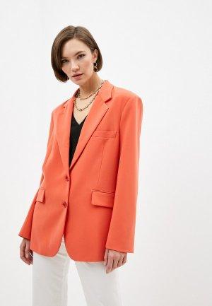 Пиджак Patrizia Pepe. Цвет: оранжевый