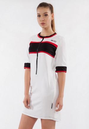 Платье Bodro Design. Цвет: белый