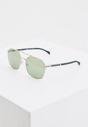 Очки солнцезащитные Boss. Цвет: зеленый