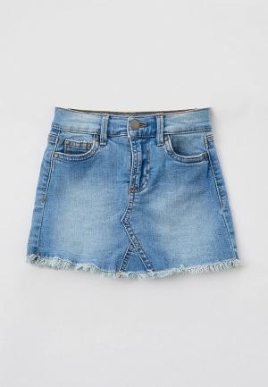 Юбка джинсовая Cotton On. Цвет: голубой