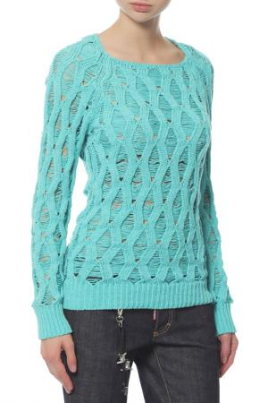 Пуловер Balmain. Цвет: голубой