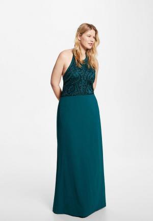 Платье Violeta by Mango. Цвет: бирюзовый