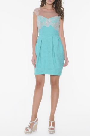 Платье KI6. Цвет: голубой