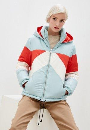 Куртка утепленная Juicy Couture. Цвет: разноцветный