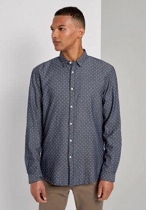 Рубашка Tom Tailor Denim. Цвет: серый
