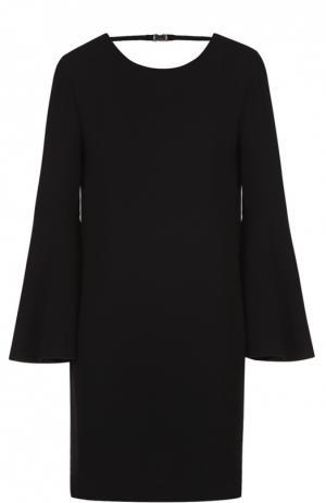 Мини-платье с расклешенными рукавами и вырезом на спинке Elizabeth and James. Цвет: черный