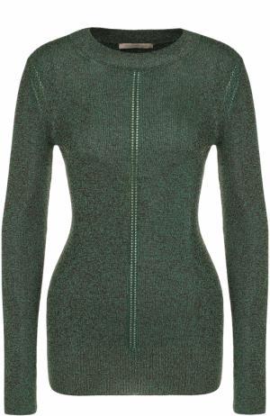 Приталенный пуловер с круглым вырезом Christopher Kane. Цвет: зеленый
