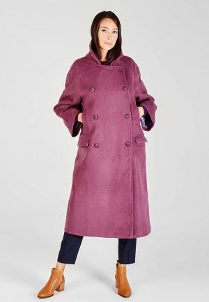 Пальто Sana.moda. Цвет: фиолетовый