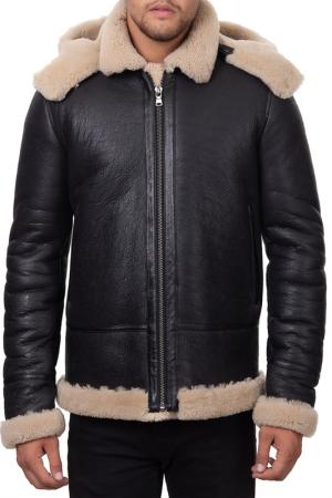 Sheepskin coat JACK WILLIAMS. Цвет: black
