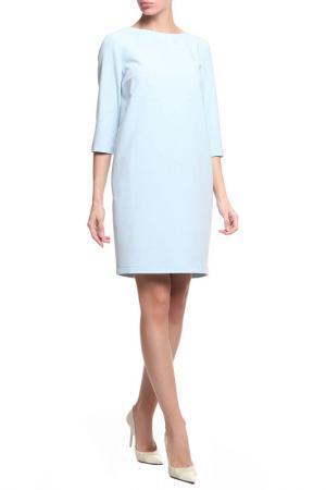 Платье LA REINE BLANCHE. Цвет: голубой