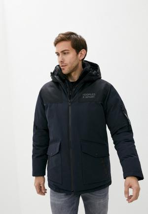 Куртка утепленная The Kooples Sport. Цвет: синий