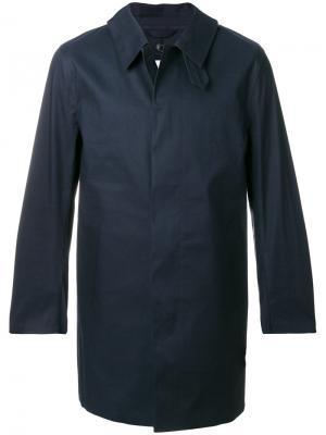Однобортное пальто Mackintosh. Цвет: синий