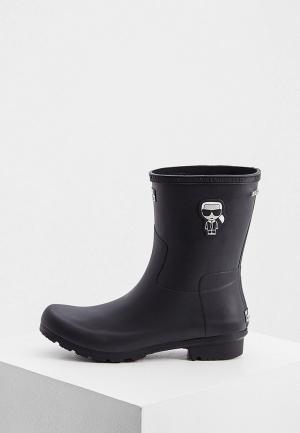 Резиновые полусапоги Karl Lagerfeld. Цвет: черный