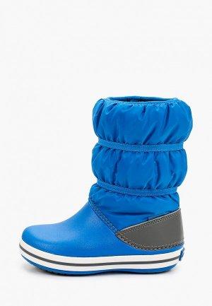 Дутики Crocs. Цвет: синий