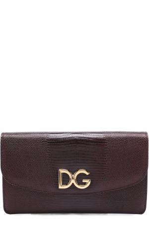Набор из кожаного клатча на цепочке и футляров Dolce & Gabbana. Цвет: бордовый