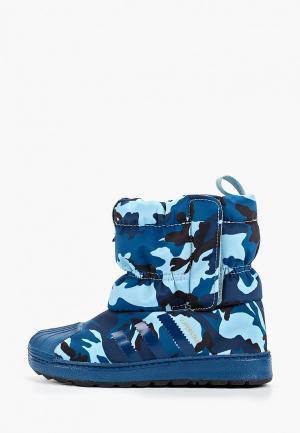 Дутики adidas Originals. Цвет: синий