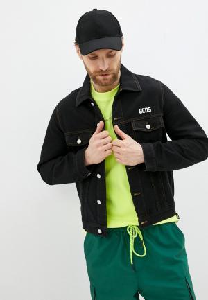 Куртка джинсовая GCDS. Цвет: черный