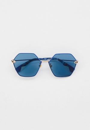 Очки солнцезащитные Furla. Цвет: синий