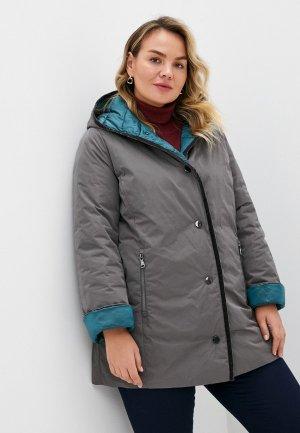 Куртка утепленная Elena Miro. Цвет: разноцветный