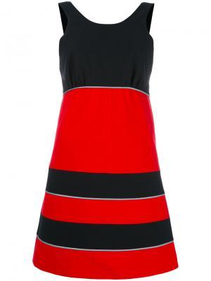 Мини-платье дизайна колор-блок Maison Kitsuné. Цвет: красный
