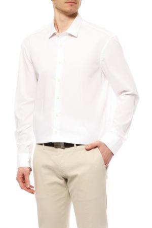 Сорочка с коротким рукавом BALDESSARINI. Цвет: белый